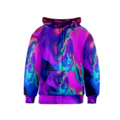 The Perfect Wave Pink Blue Red Cyan Kids  Zipper Hoodie by EDDArt