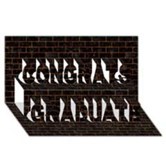 Brick1 Black Marble & Brown Marble Congrats Graduate 3d Greeting Card (8x4)