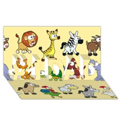 Group Of Animals Graphic #1 Dad 3d Greeting Card (8x4) by Onesevenart