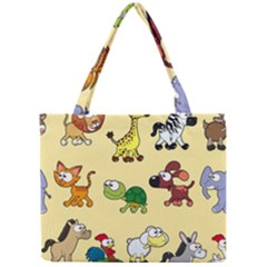 Group Of Animals Graphic Mini Tote Bag by Onesevenart