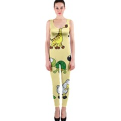 Group Of Animals Graphic Onepiece Catsuit by Onesevenart