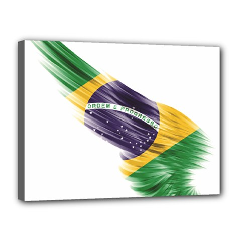 Flag Of Brazil Canvas 16  X 12