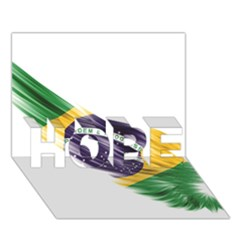 Flag Of Brazil Hope 3d Greeting Card (7x5) by Onesevenart