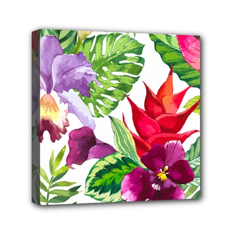 Vector Pattern Tropical Mini Canvas 6  X 6  by Onesevenart