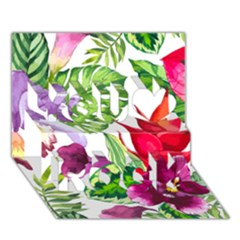 Vector Pattern Tropical You Rock 3d Greeting Card (7x5) by Onesevenart