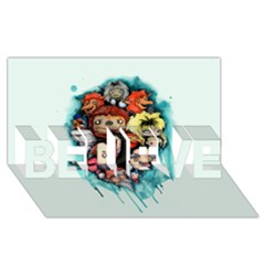 Should You Need Us 2 0 Believe 3d Greeting Card (8x4)