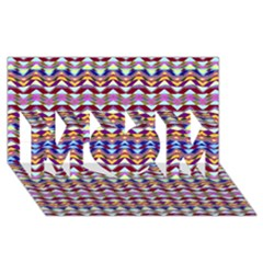 Ethnic Colorful Pattern Mom 3d Greeting Card (8x4) by dflcprints