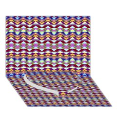Ethnic Colorful Pattern Heart Bottom 3d Greeting Card (7x5)