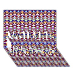 Ethnic Colorful Pattern You Are Invited 3d Greeting Card (7x5) by dflcprints