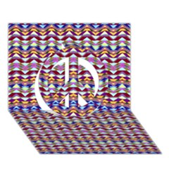 Ethnic Colorful Pattern Peace Sign 3d Greeting Card (7x5) by dflcprints
