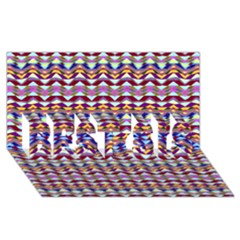 Ethnic Colorful Pattern Best Sis 3d Greeting Card (8x4)