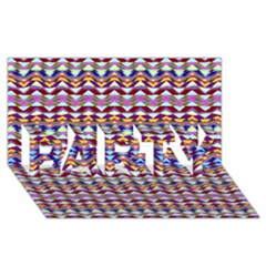 Ethnic Colorful Pattern Party 3d Greeting Card (8x4) by dflcprints