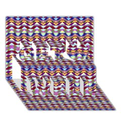 Ethnic Colorful Pattern Get Well 3d Greeting Card (7x5) by dflcprints