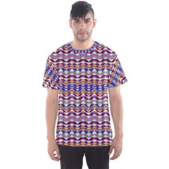 Ethnic Colorful Pattern Men s Sport Mesh Tee