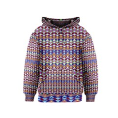 Ethnic Colorful Pattern Kids  Zipper Hoodie