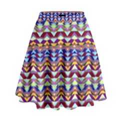 Ethnic Colorful Pattern High Waist Skirt by dflcprintsclothing