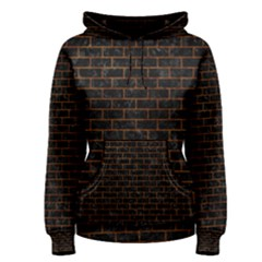 Brick1 Black Marble & Brown Marble (r) Women s Pullover Hoodie by trendistuff