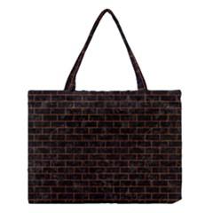 Brick1 Black Marble & Brown Marble (r) Medium Tote Bag by trendistuff