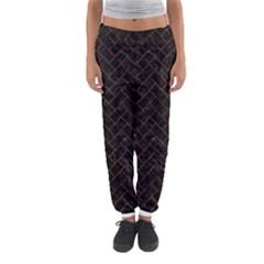Brick2 Black Marble & Brown Marble (r) Women s Jogger Sweatpants by trendistuff