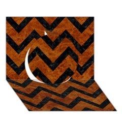 Chevron9 Black Marble & Brown Marble (r) Circle 3d Greeting Card (7x5) by trendistuff