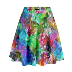 Colorful Strokes                                                                                                                  High Waist Skirt by LalyLauraFLM