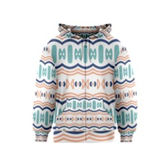 Shapes And Waves                                                                                                                  Kids Zipper Hoodie