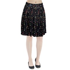 Christmas Decorative Pattern Vector Pleated Skirt by Onesevenart
