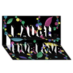 Space Garden Laugh Live Love 3d Greeting Card (8x4) by Valentinaart