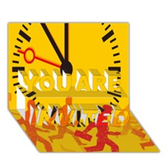 Work Run You Are Invited 3d Greeting Card (7x5) by AnjaniArt