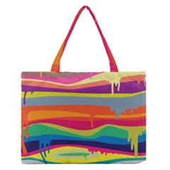 Colorfull Rainbow Medium Zipper Tote Bag by AnjaniArt