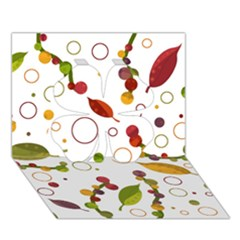 Adorable Floral Design Clover 3d Greeting Card (7x5) by Valentinaart