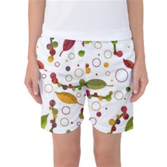 Adorable Floral Design Women s Basketball Shorts