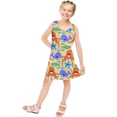 Calamari Squid Whale Kids  Tunic Dress by AnjaniArt