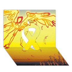 Angel Ribbon 3d Greeting Card (7x5) by AnjaniArt