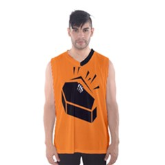 Creepy Skeleton Hand Coming Men s Basketball Tank Top by AnjaniArt