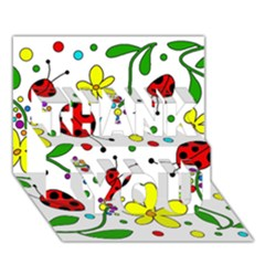 Ladybugs Thank You 3d Greeting Card (7x5)