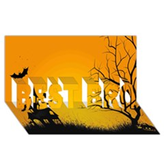 Day Halloween Night Best Bro 3d Greeting Card (8x4) by AnjaniArt