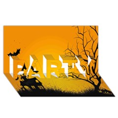 Day Halloween Night Party 3d Greeting Card (8x4)