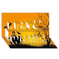 Day Halloween Night Best Wish 3d Greeting Card (8x4)