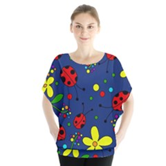 Ladybugs   Blue Blouse by Valentinaart