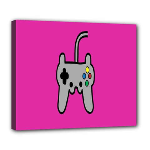 Game Pink Deluxe Canvas 24  X 20   by AnjaniArt
