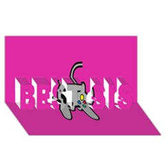 Game Pink Best Sis 3d Greeting Card (8x4) by AnjaniArt