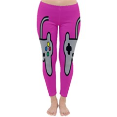 Game Pink Classic Winter Leggings by AnjaniArt