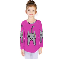 Game Pink Kids  Long Sleeve Tee