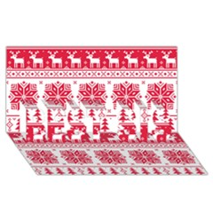 Christmas Patterns Best Sis 3d Greeting Card (8x4) by Onesevenart
