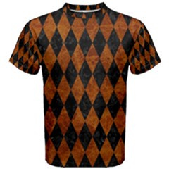 Diamond1 Black Marble & Brown Marble Men s Cotton Tee