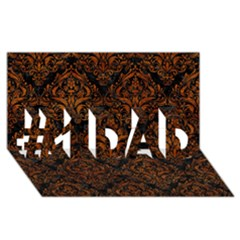Damask1 Black Marble & Brown Marble #1 Dad 3d Greeting Card (8x4) by trendistuff