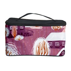 Cute Christmas Seamless Pattern Cosmetic Storage Case by Onesevenart