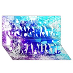 Christmas Snowflake With Shiny Polygon Background Vector Congrats Graduate 3d Greeting Card (8x4) by Onesevenart