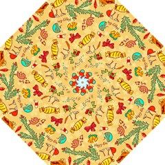 Cute Christmas Seamless Pattern Vector Hook Handle Umbrellas (large) by Onesevenart